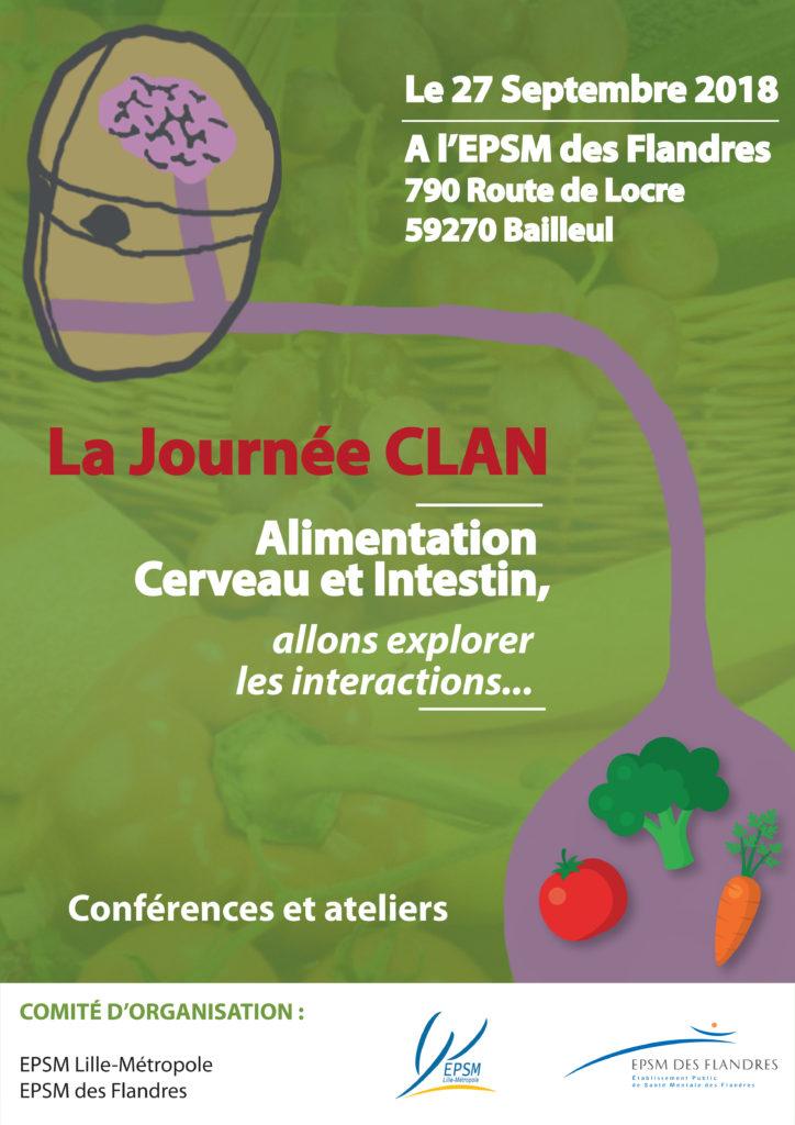 JOURNÉE CLAN - Alimentation, Cerveau, Intestin @ EPSM des Flandres - Institut de Formation